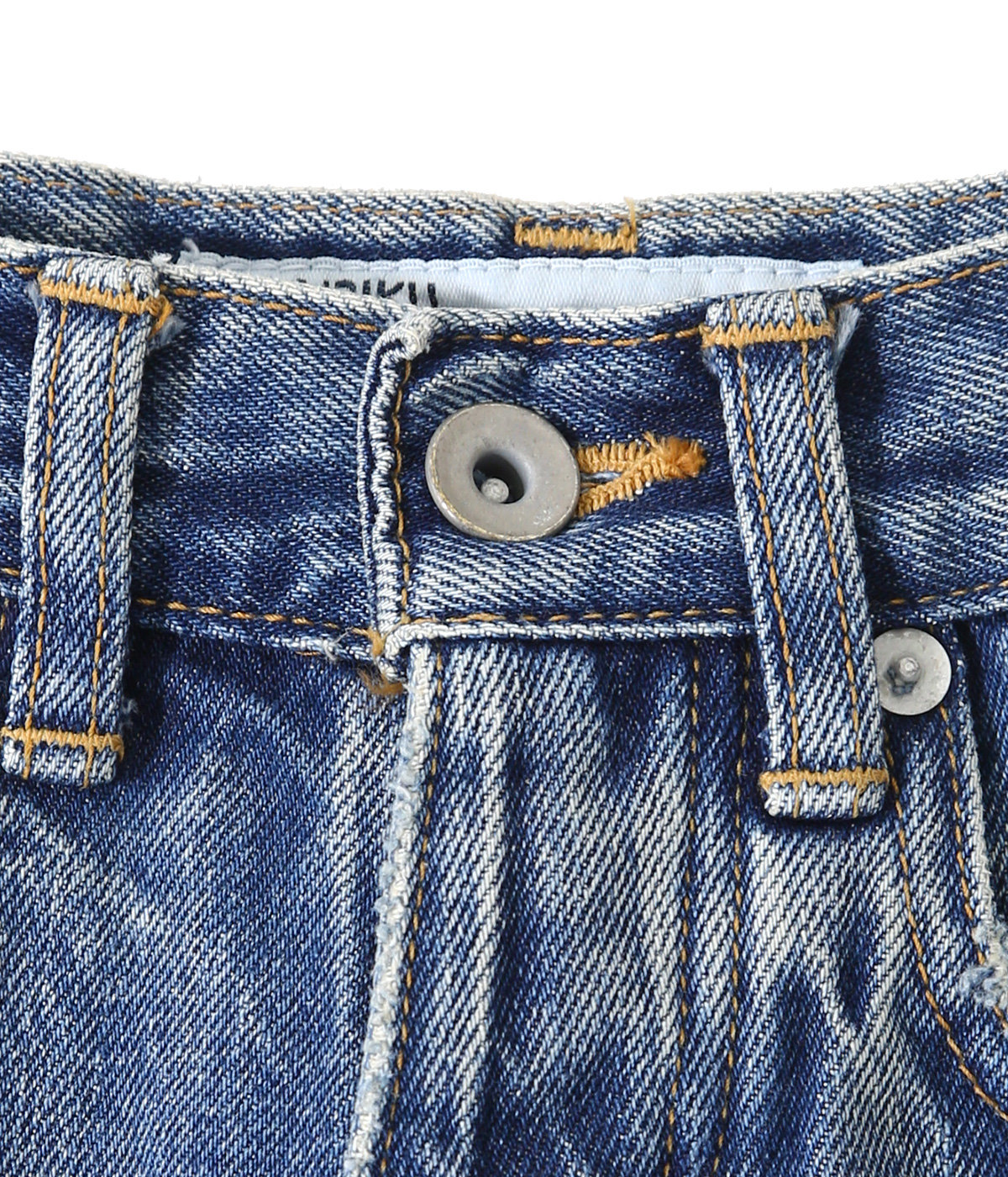 Damage Straight Denim Pants