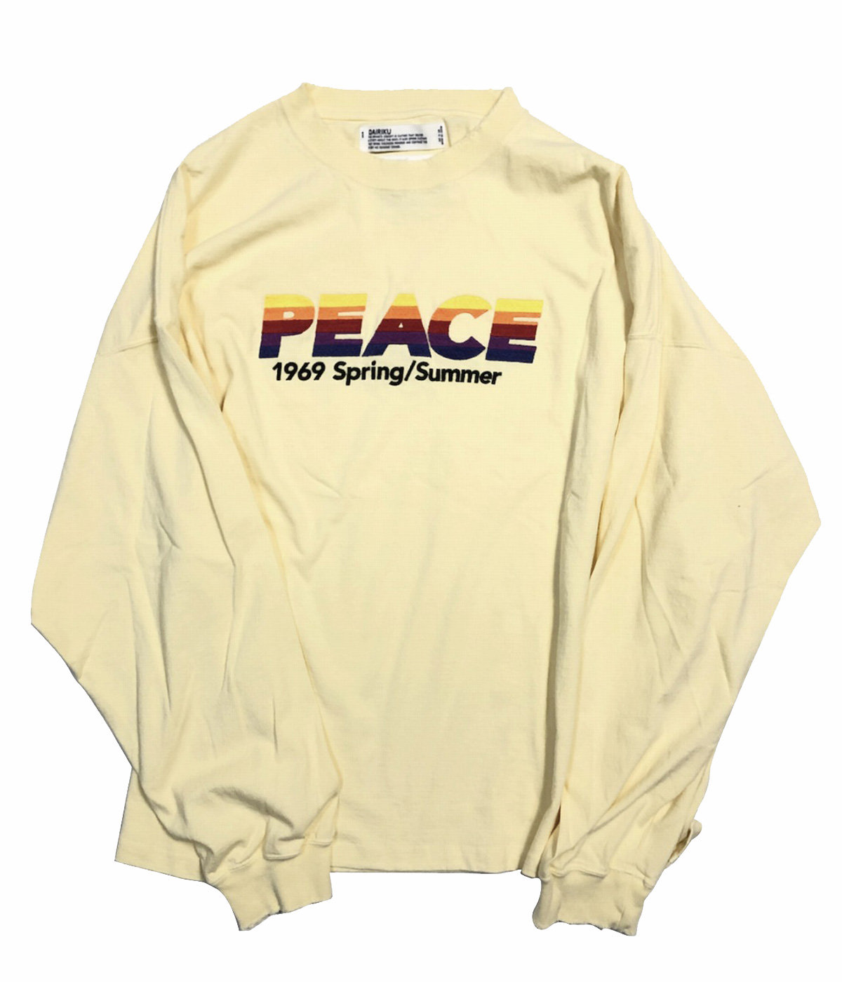 """PEACE"" Vintage Long Sleeve Tee"