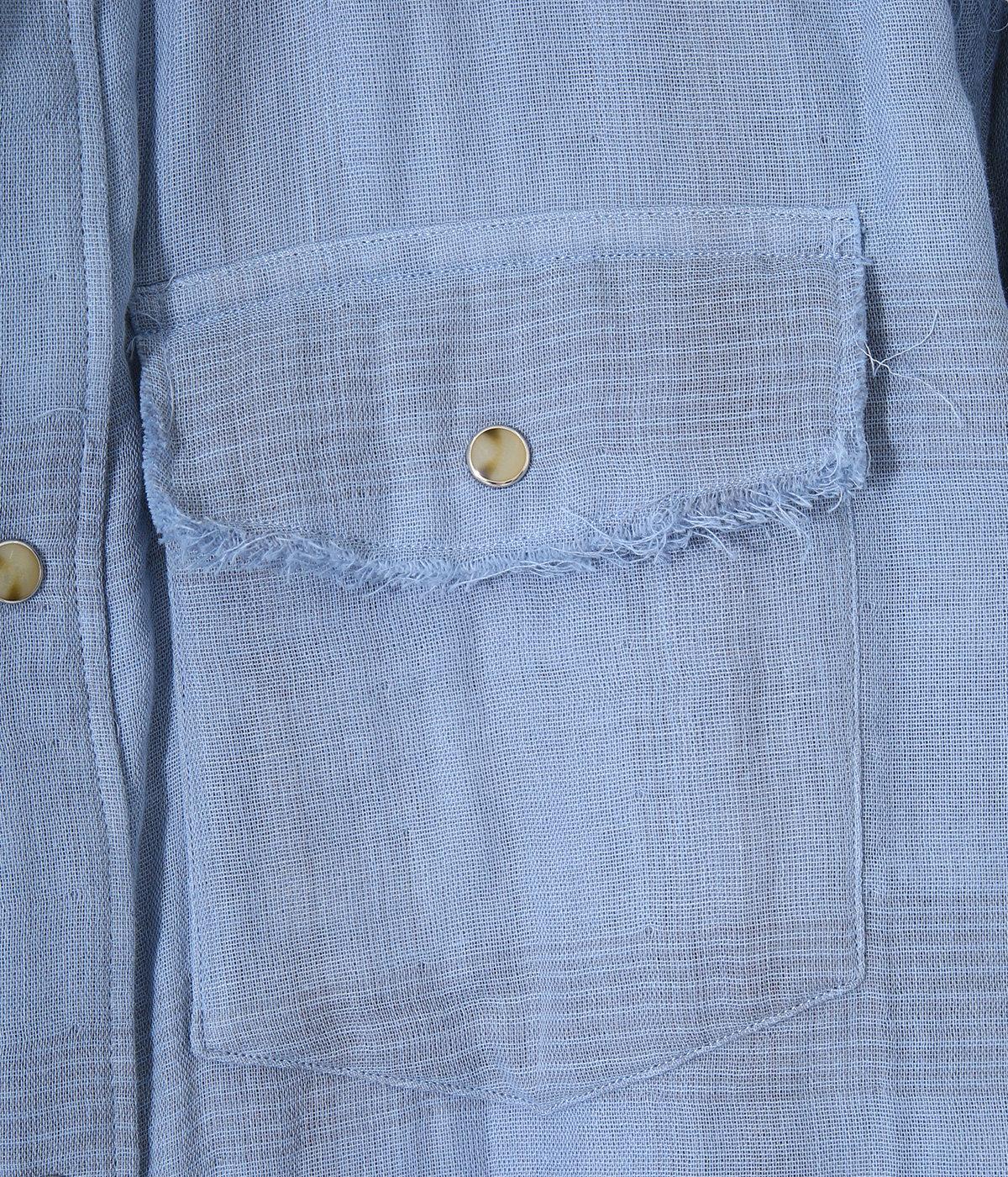 Double Gauze Check Western Shirt