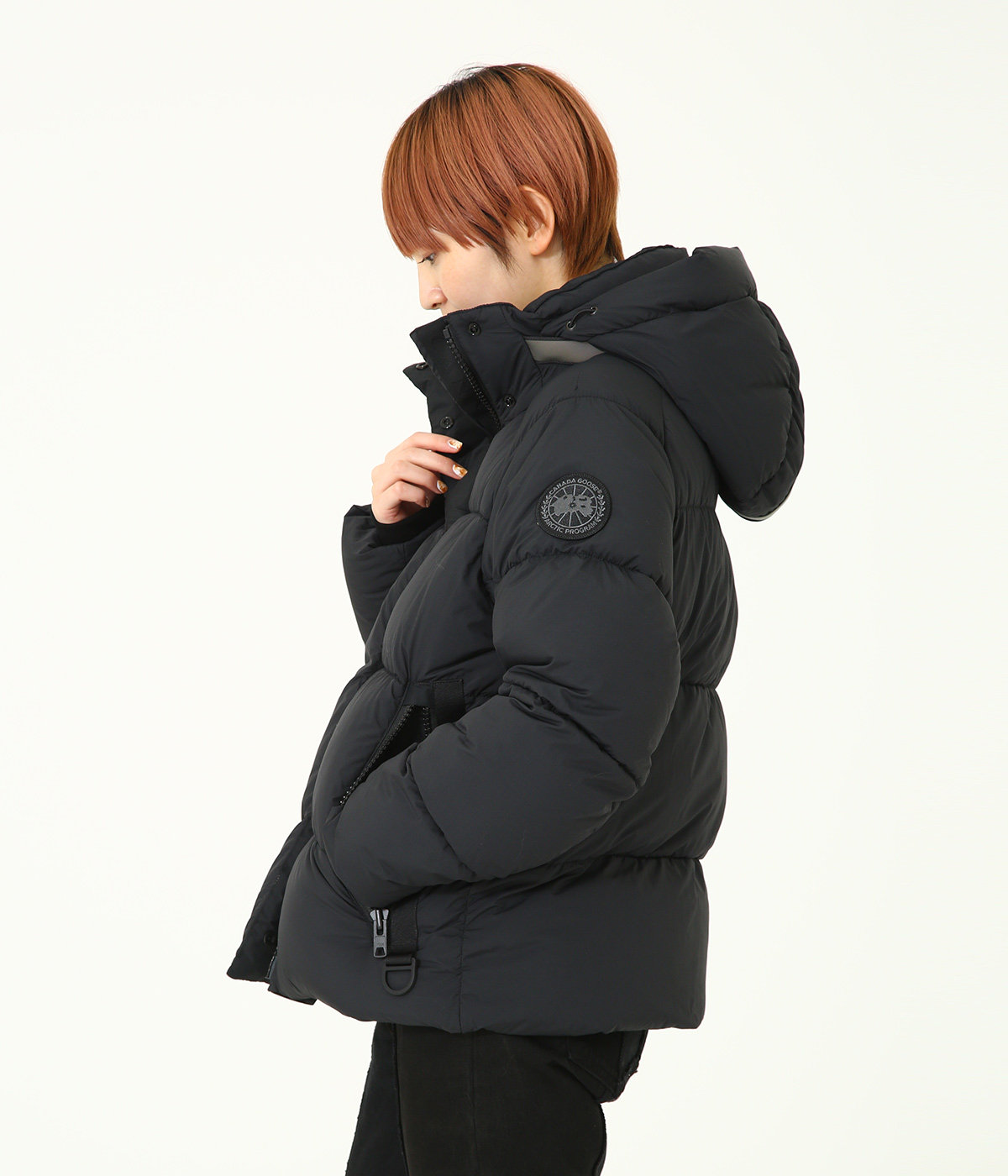 【レディース】<JUNCTION PARKA(ジャンクション パーカー)>-BLACK LABEL/BLACK DISC-