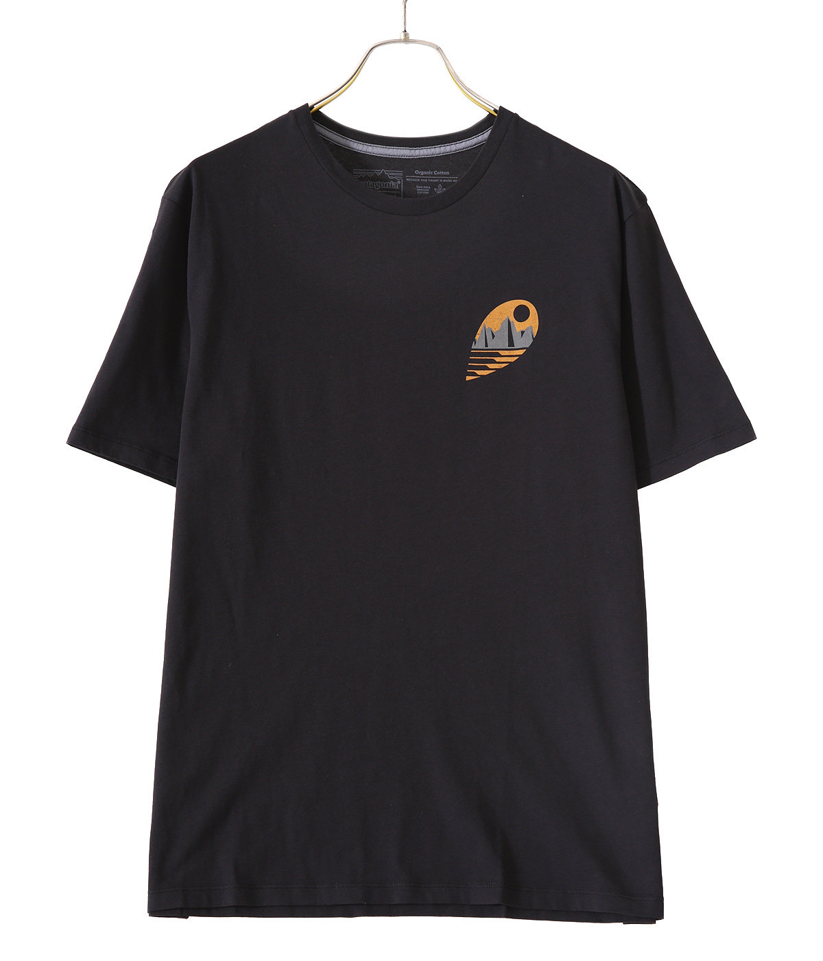 M's Tube View Organic T-Shirts -BLK-