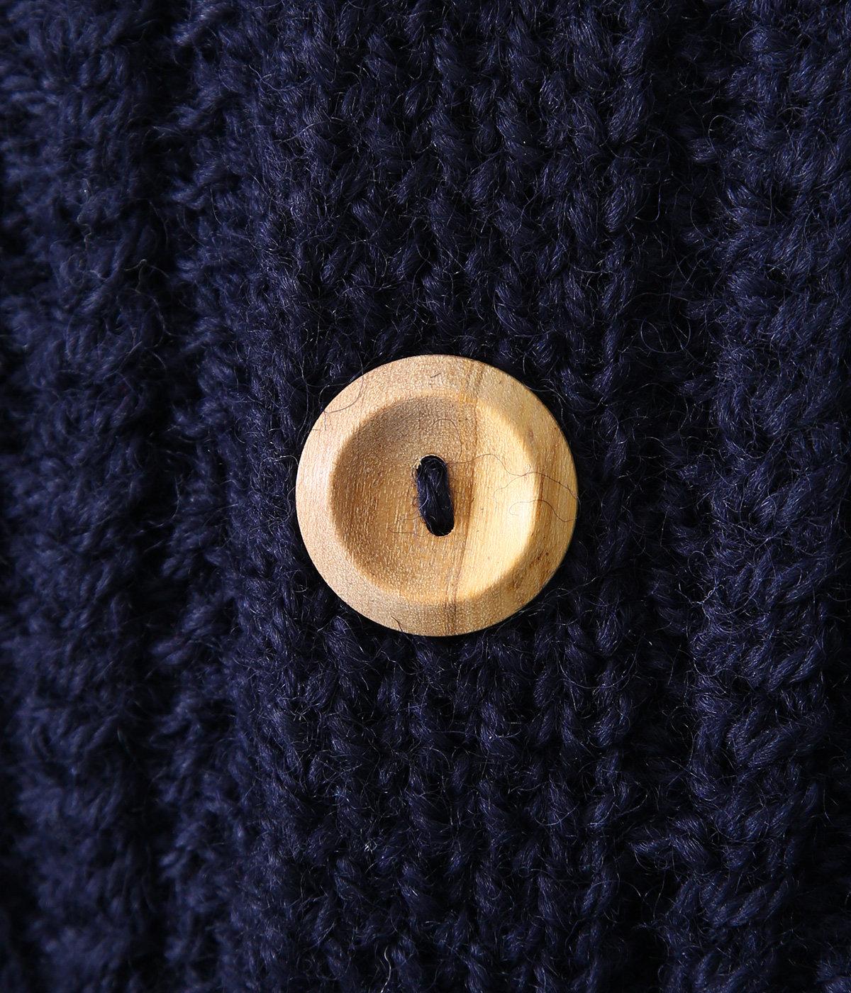 Lumber Cardigan -NAVY- (Size:40.42)