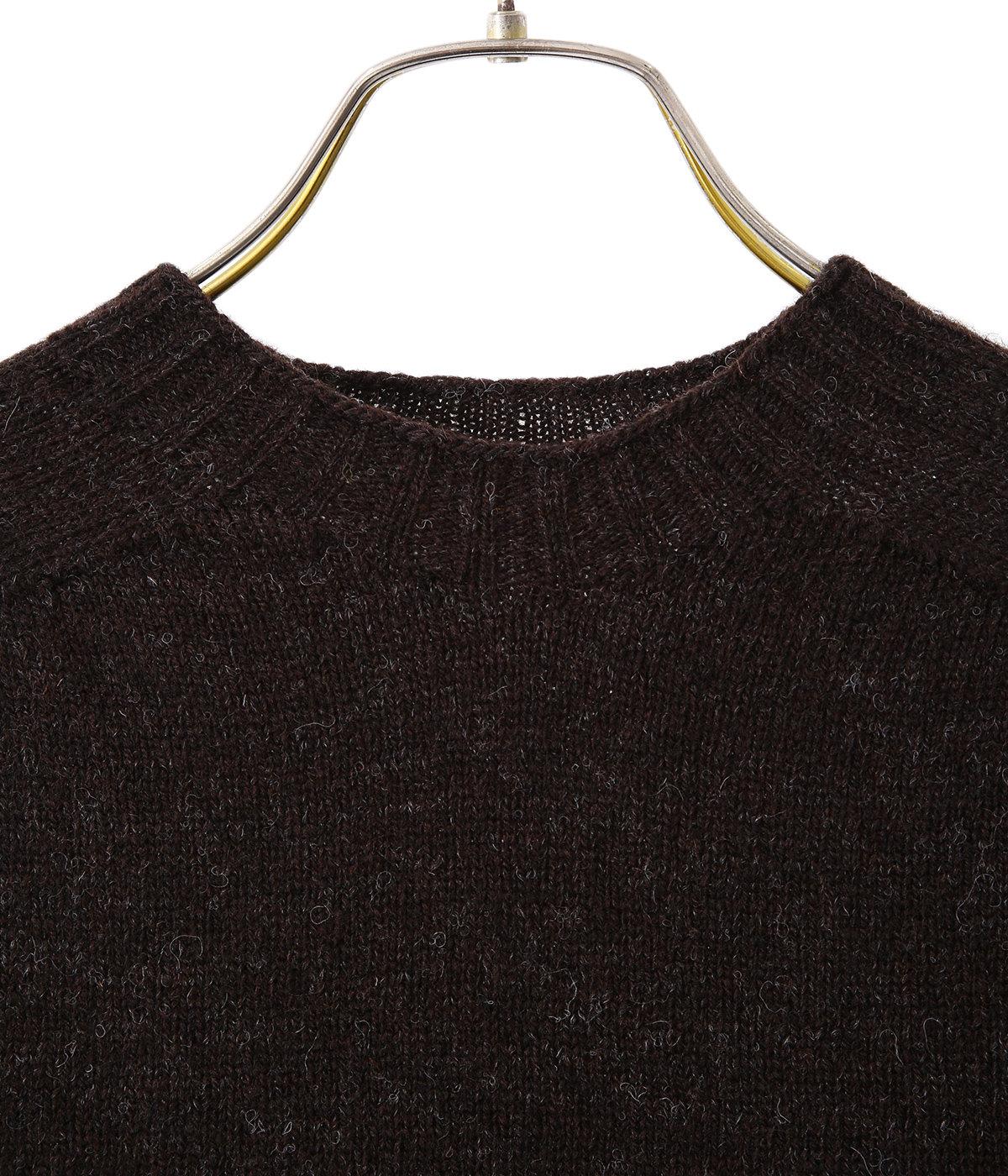 Shetland Wool Crew Neck Sweater