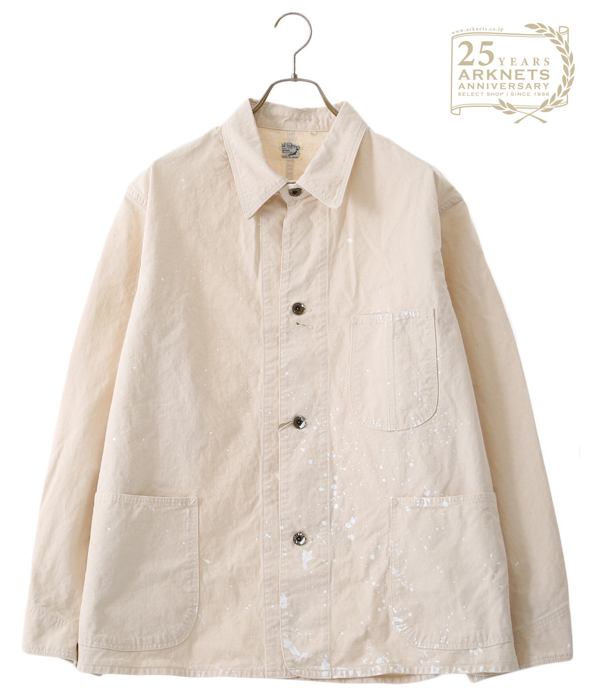【ONLY ARK】別注 MEN'S 40's COVERALL ECRU+PAINT