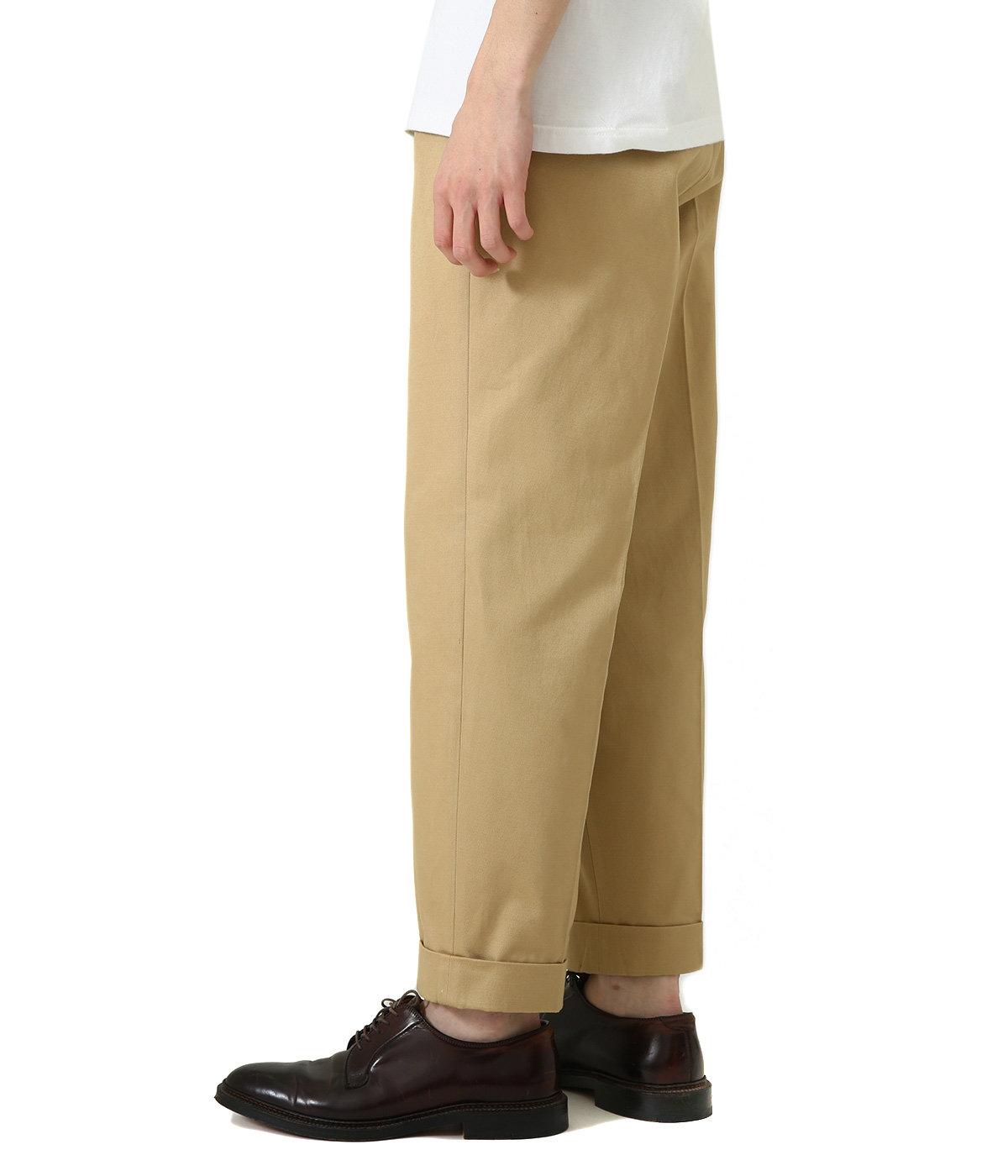 San Joaquin Cotton Chino Pleated Trousers