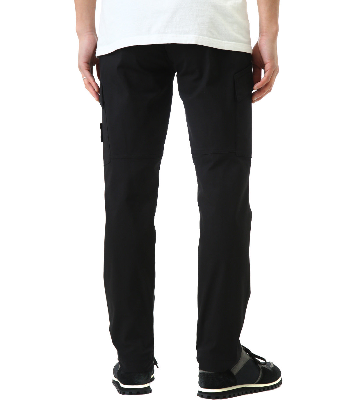 TWO WAYS STRETCH COTTON NYLON TWILL PANTS