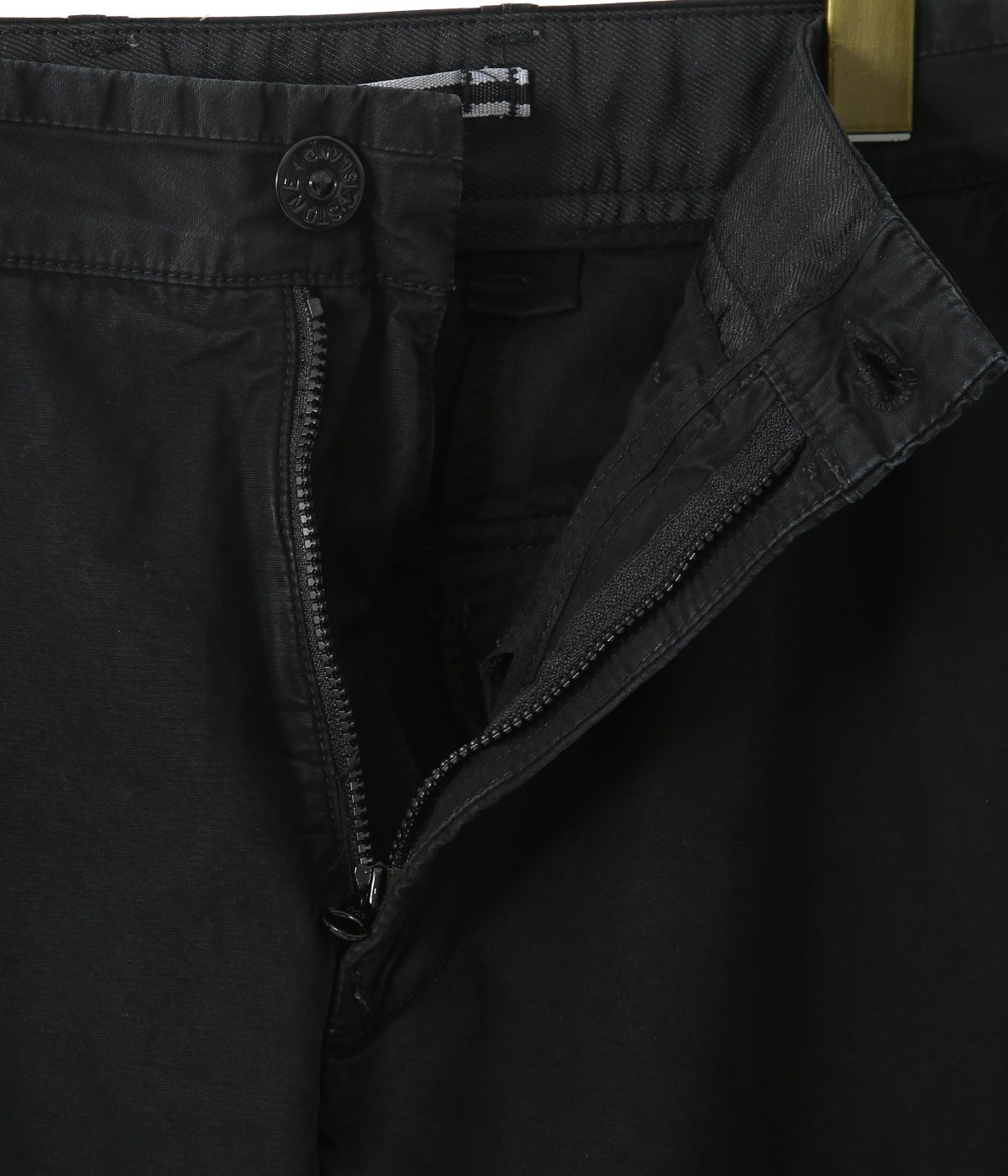 BRUSHED COTTON CANVAS OLD EFFECT CARGO PANTS
