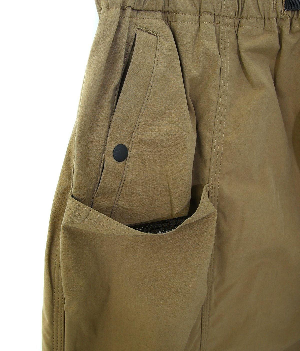 Belted Center Seam Short - Wax Coating