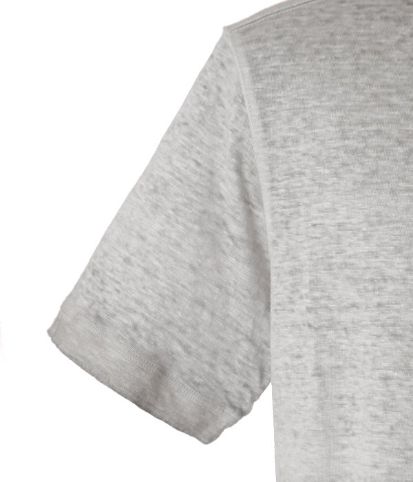 LINEN T-SHIRTS-PEARL GREY-