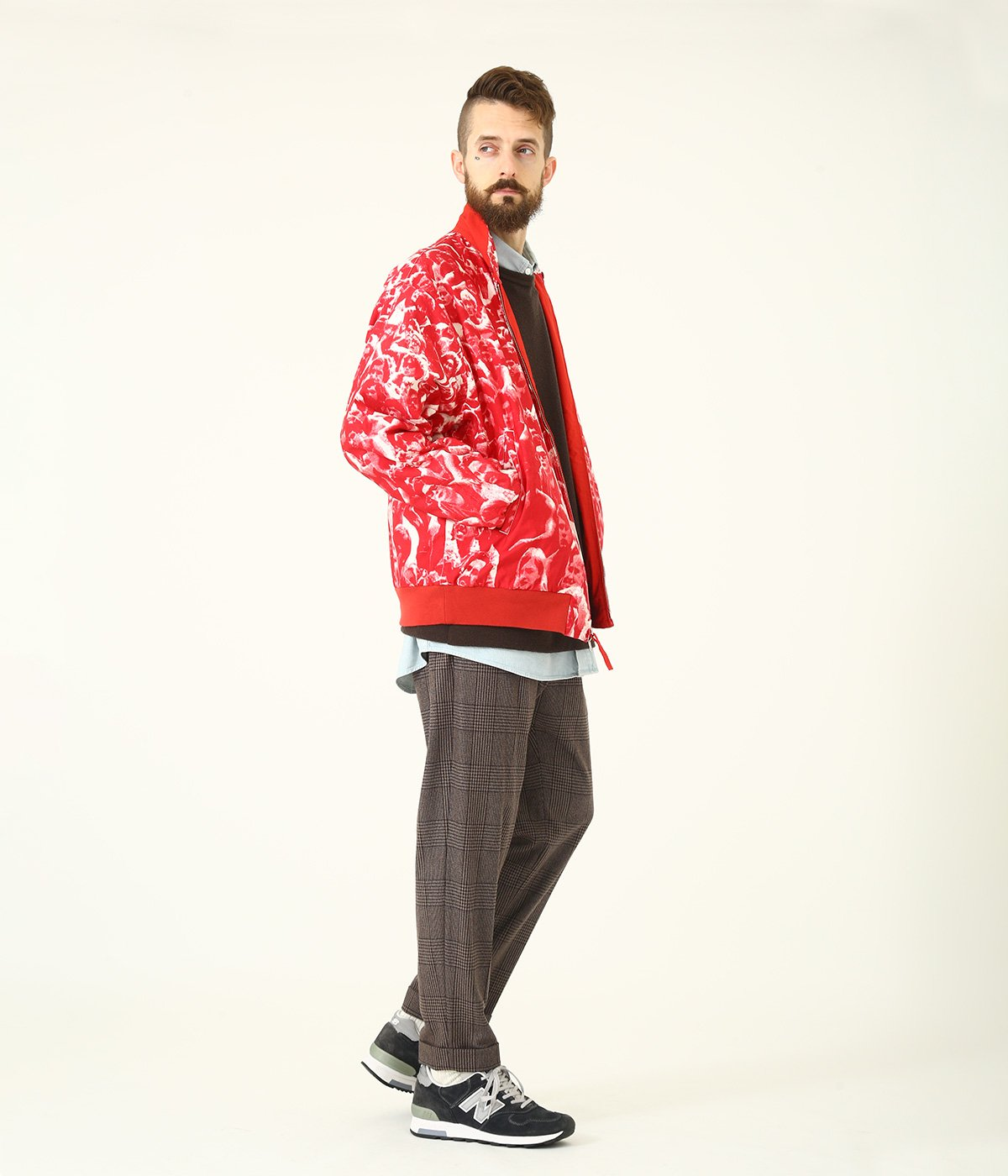 "COTTON WEATHER REVERSIBLE SPORTS JACKET ""WOODSTOCK"""
