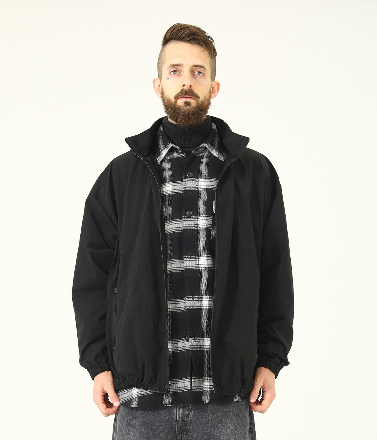 RIPPLE NYLON WEATHER TRACK JACKET