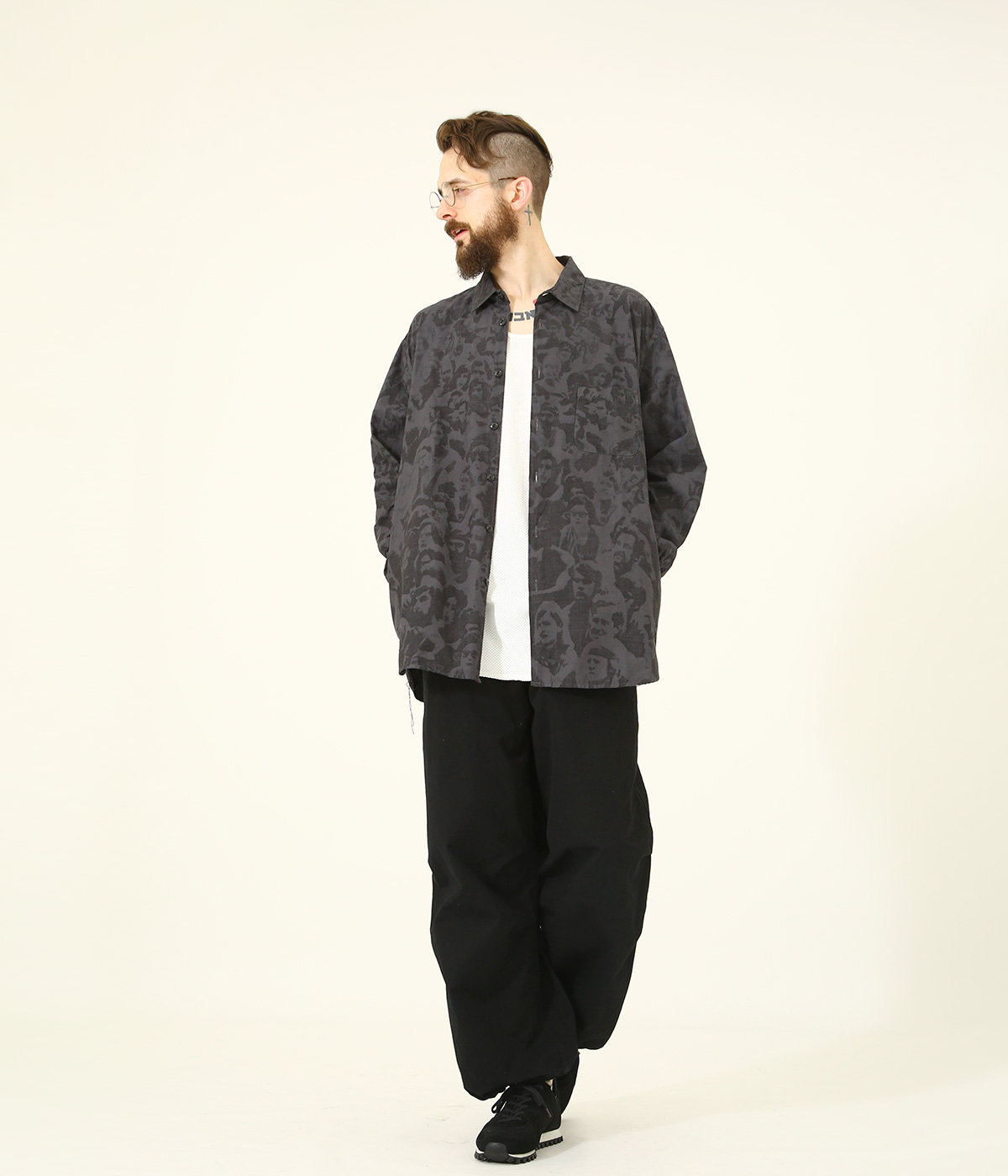 "SLUB COTTON BROAD L/S BIG SHIRT ""WOODSTOCK"""