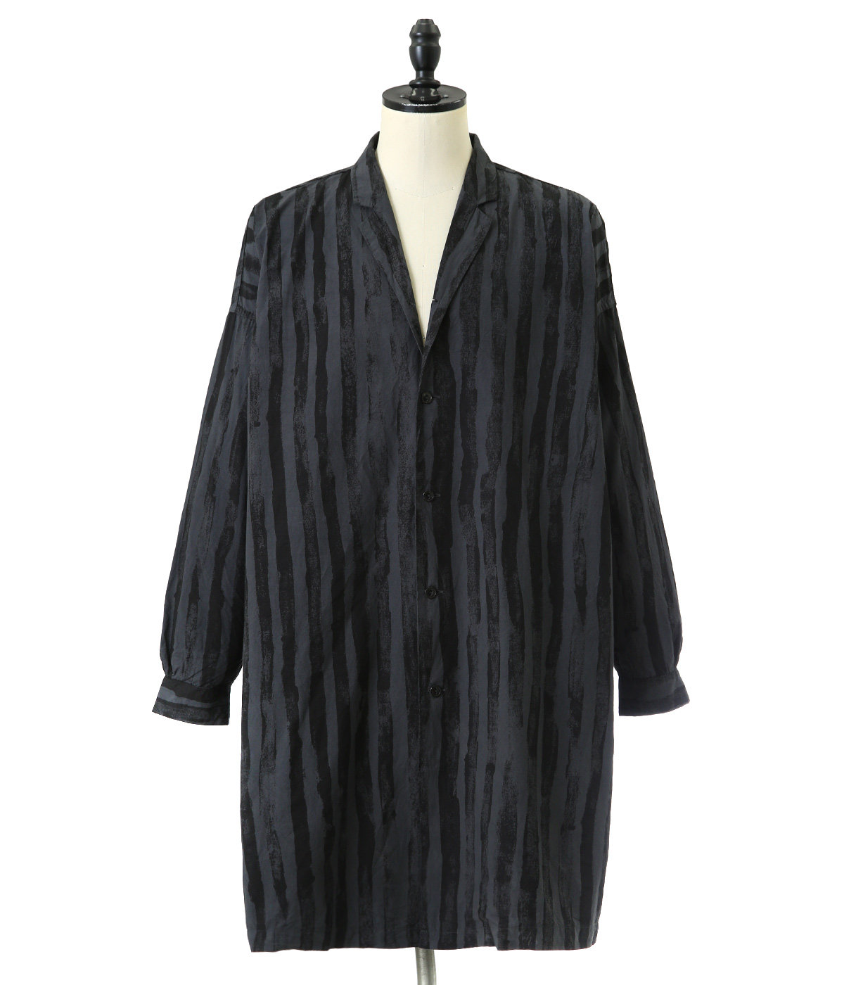 BRUSH STRIPES BROAD ATELIER COAT