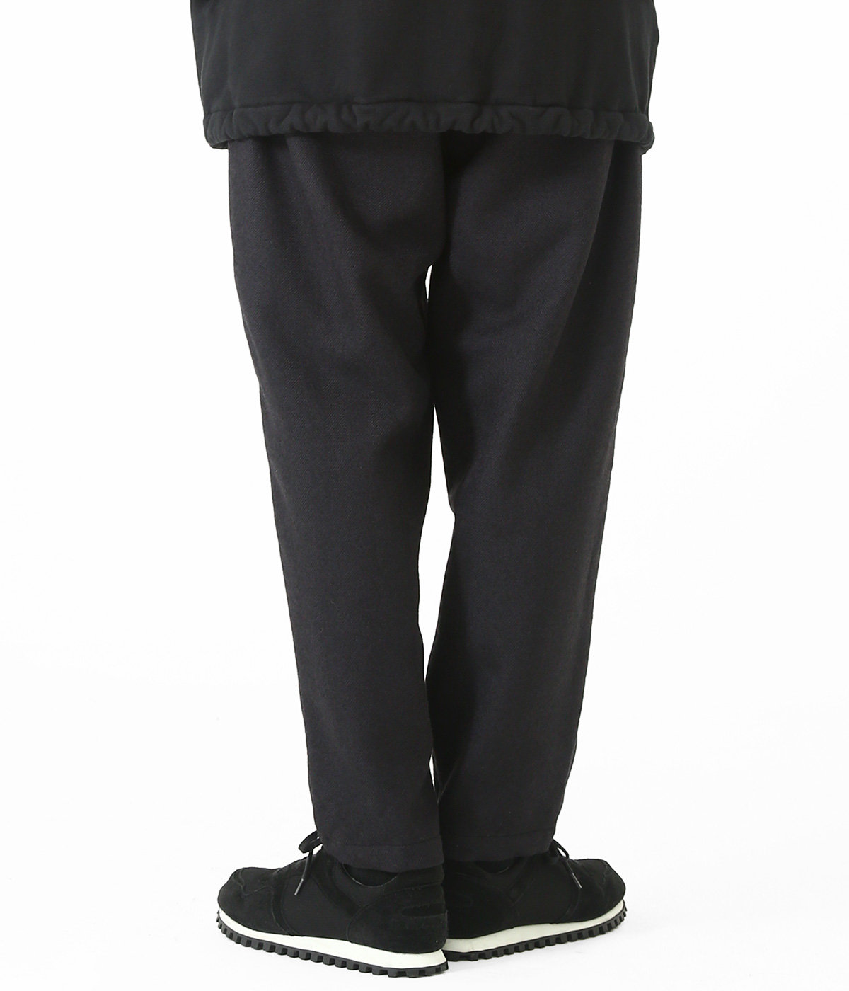 WOOL HELLINGBONE EASY PANTS