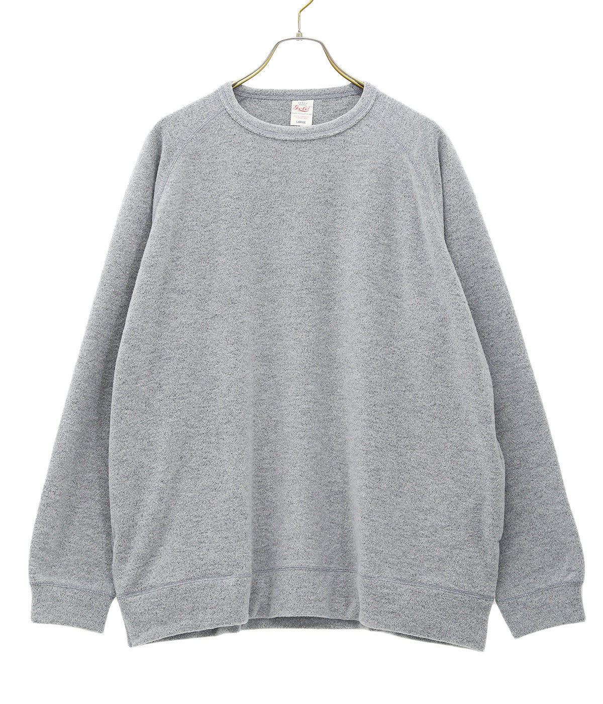 LIGHT WEIGHT BOUCLE WOOL KNIT RAGLAN CREW NECK