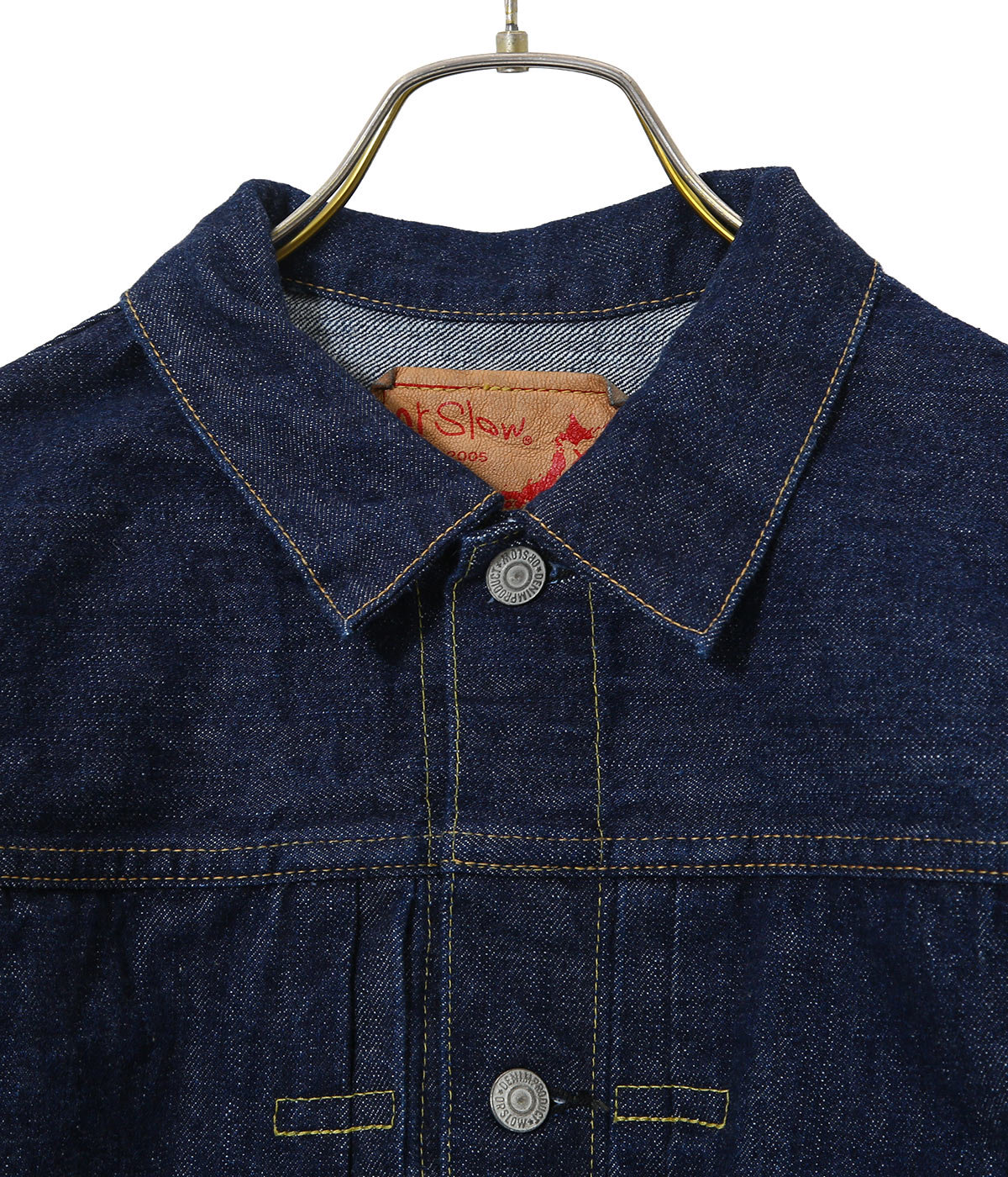 PLEATED FRONT BLOUSE -DENIM ONE WASH-