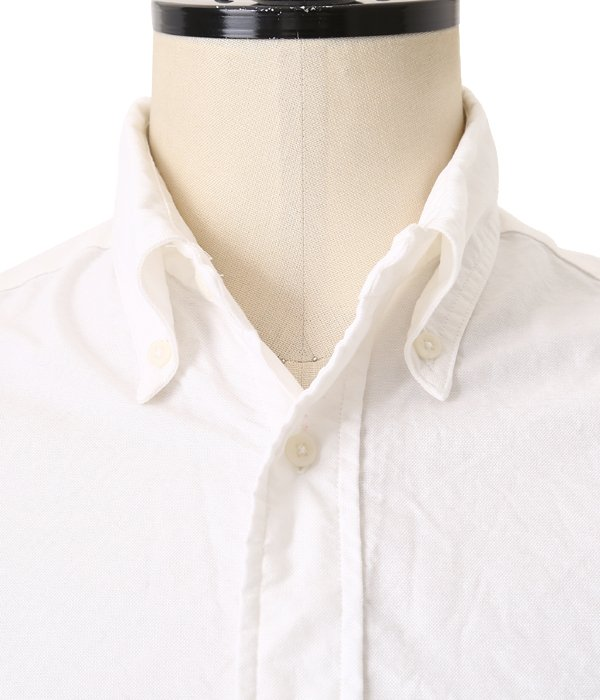 VINTAGE BUTTON DOWN SHORT SLEEVE SHIRTS (White Oxford)