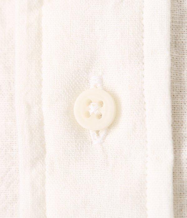 VINTAGE BUTTON DOWN SHORT SLEEVE SHIRTS (Japanese Natural Linen)