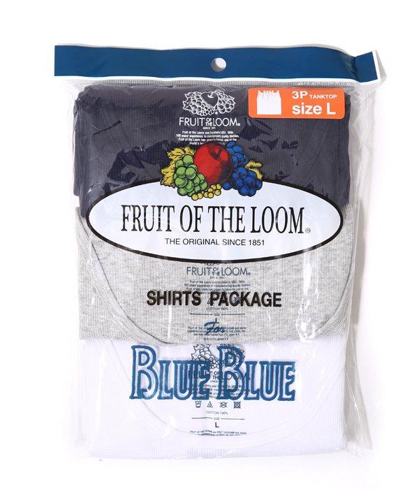 FRUIT OF THE LOOM BLUEBLUE 3PCS TANKTOP