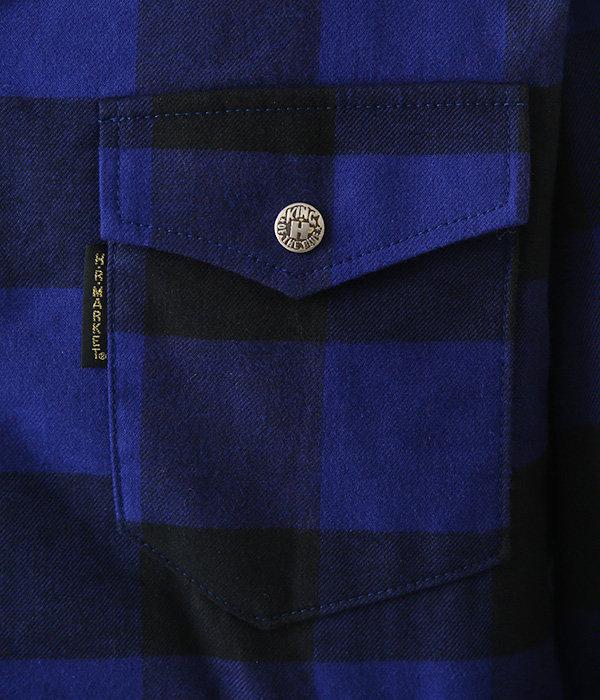 JK1426 ブラッシュドチェック ボア ライニングジャケット