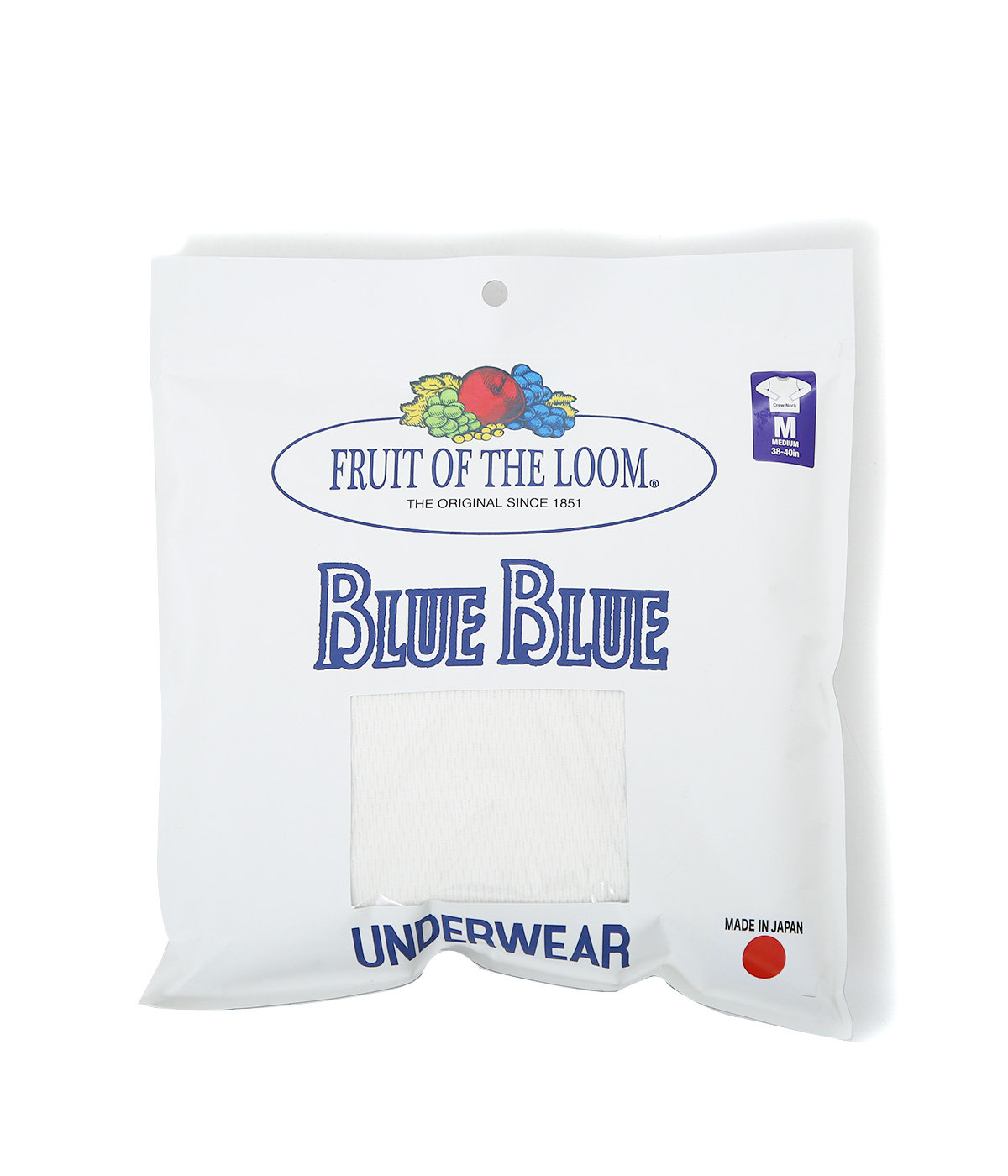 FRUIT OF THE LOOM BLUEBLUE COTTON WAFFLE LS T SHIRTS