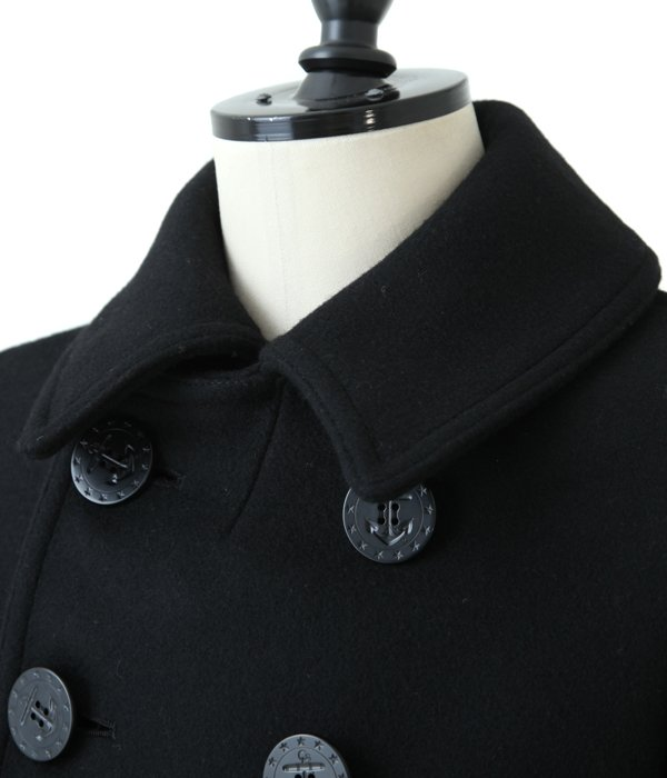 BLACK PEA COAT 36oz.WOOL