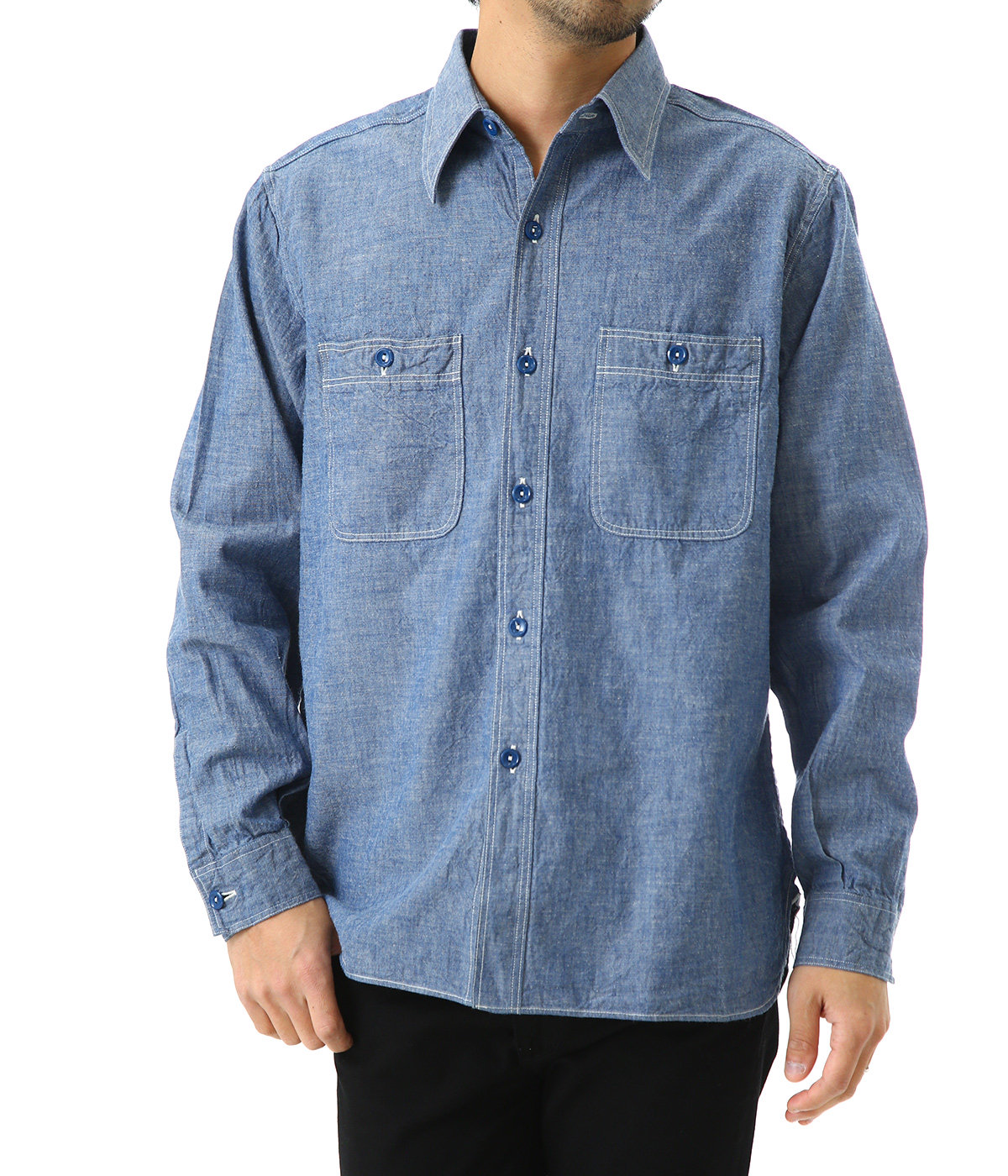 BLUE CHAMBRAY WORK SHIRT