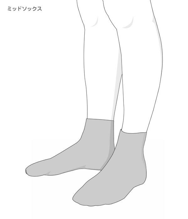 2 PAIRS / Quarter-length BIG LOGO SOCKS