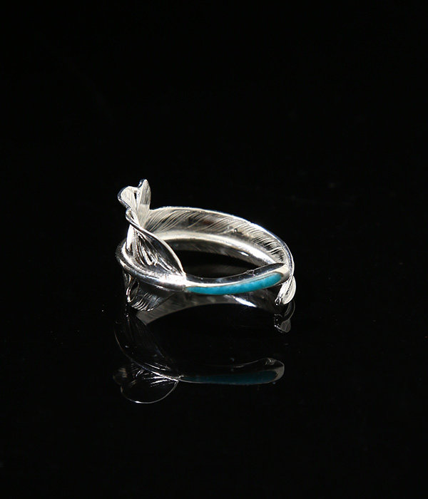 KAZEKIRI FEATHER RING -TURQUOISE-