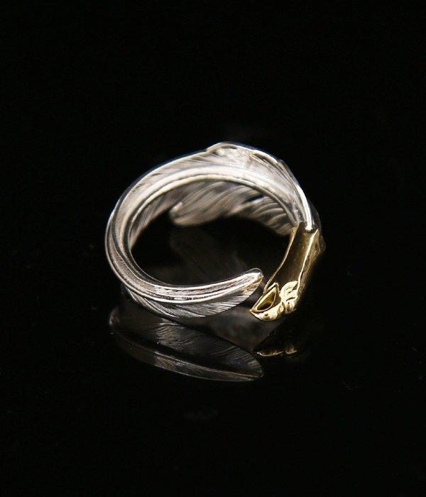 18K EAGLE HEAD KAZEKIRI RING