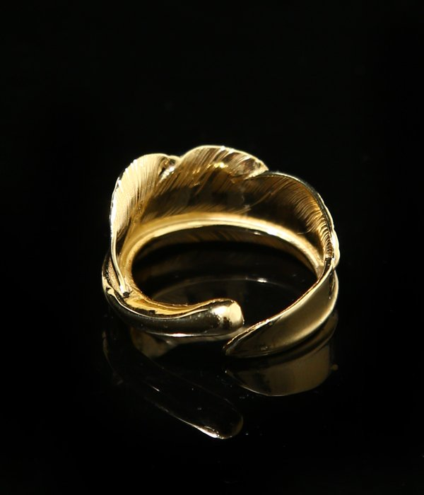 NATABANE FEATHER RING -18K-