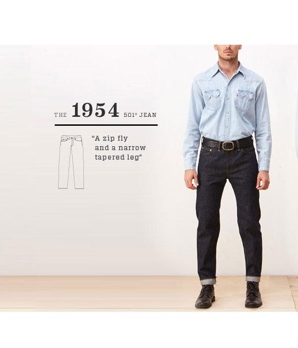 1954 501ZXXJean Rigid レングス34