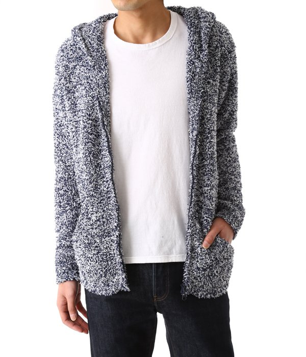 Heathered two tone version mens hoodie
