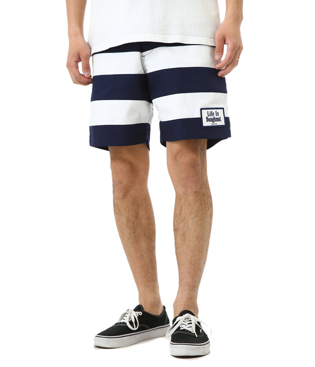 7fix WALK SHORTS -NAV/WHT-