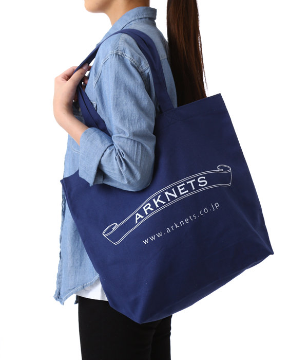 CANVAS TOTE BAG(NAVY)
