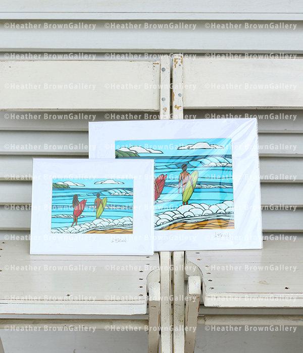 Art Print 11×14 「Love and Surf」