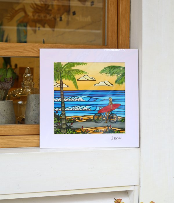 Art Print 12×12 「Beach Cruise」