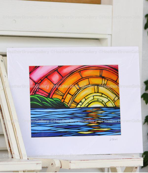 Art Print 8×10 「Juicy Sunset」