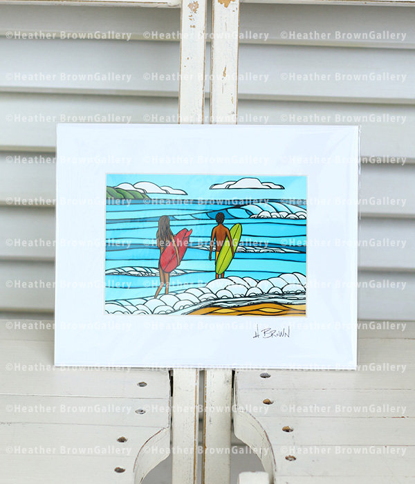 Art Print 8×10 「Love and Surf」