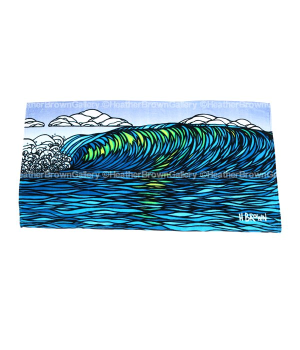 Beach Towels 「Glassy Green」