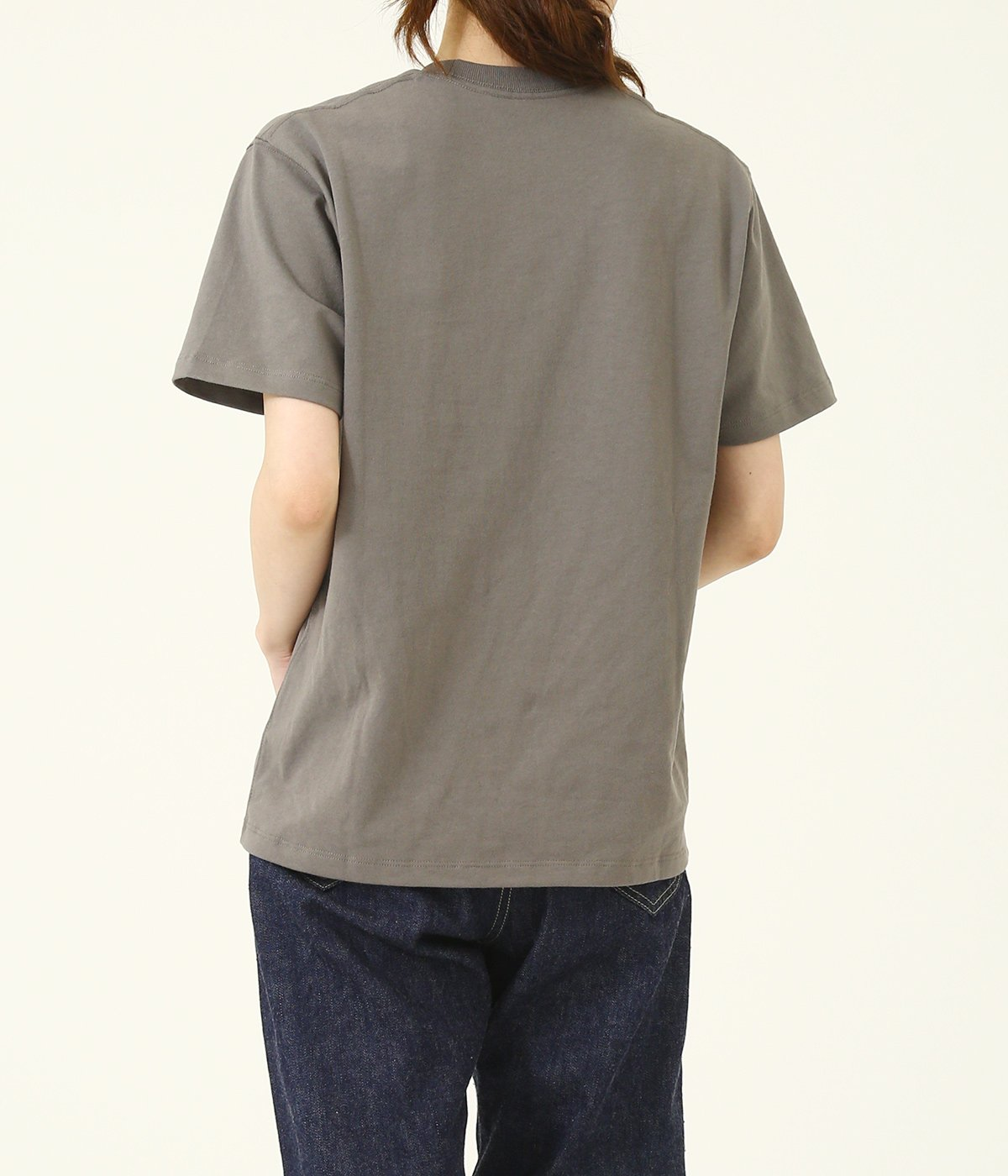 CREW NECK POCKET T-SHIRT (14/-空紡天竺)