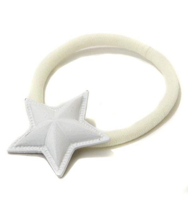 スターコンチョ(ホワイト) ヘアゴム