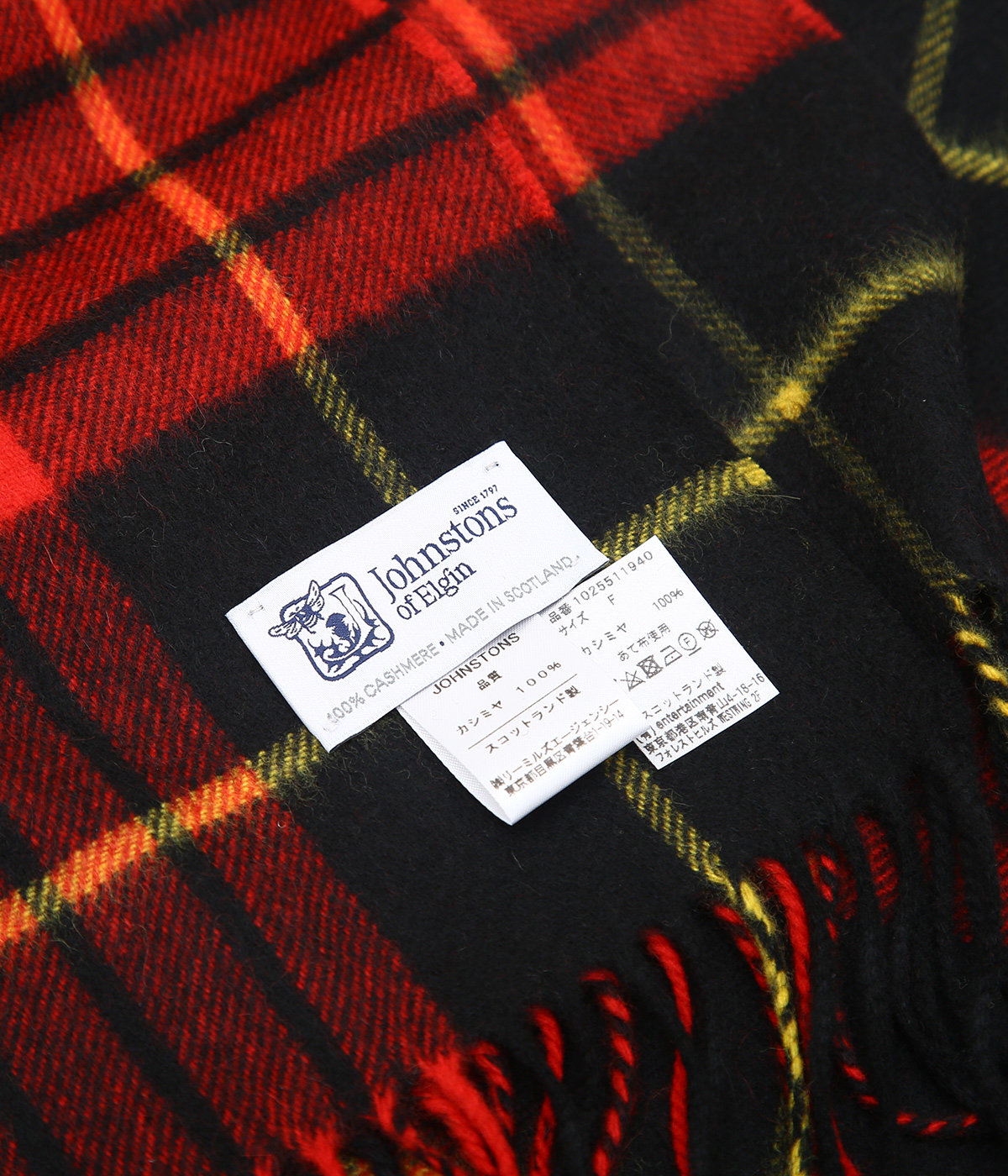 【レディース】johnstons × bp cashmere stole