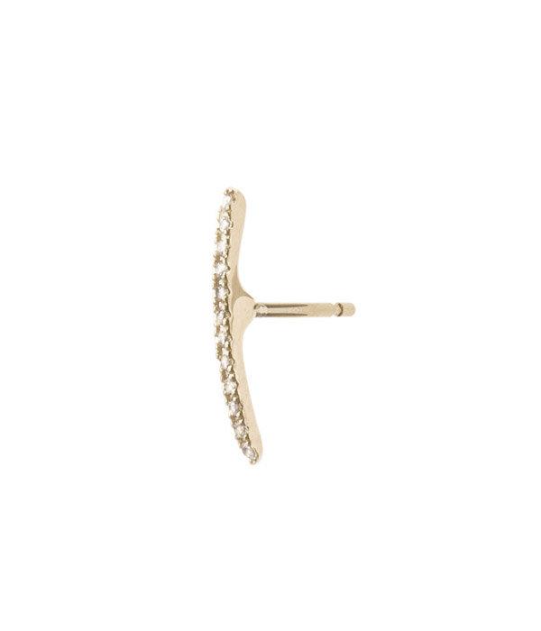 Gossamer Diamond Short Bar Earrings(ピアス)