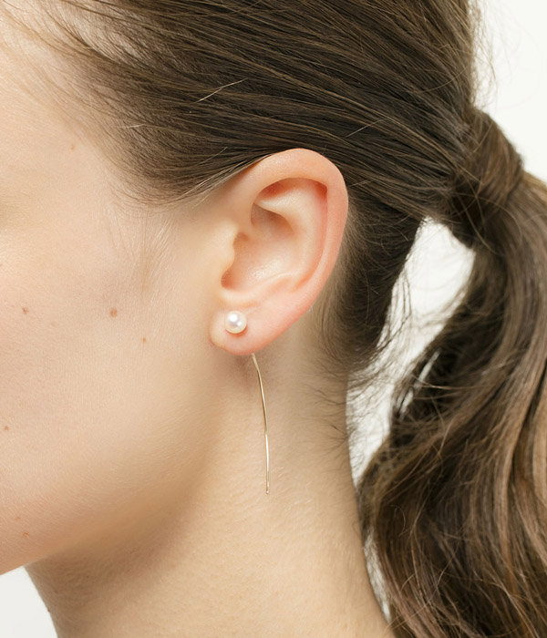 【レディース】Arrow Earring Collection with 'M Size' Akoya Pearl(ピアス)
