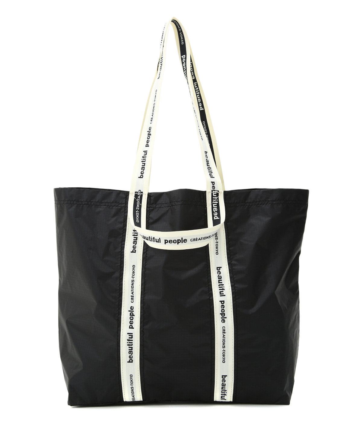【レディース】sail cloth logo tape tote