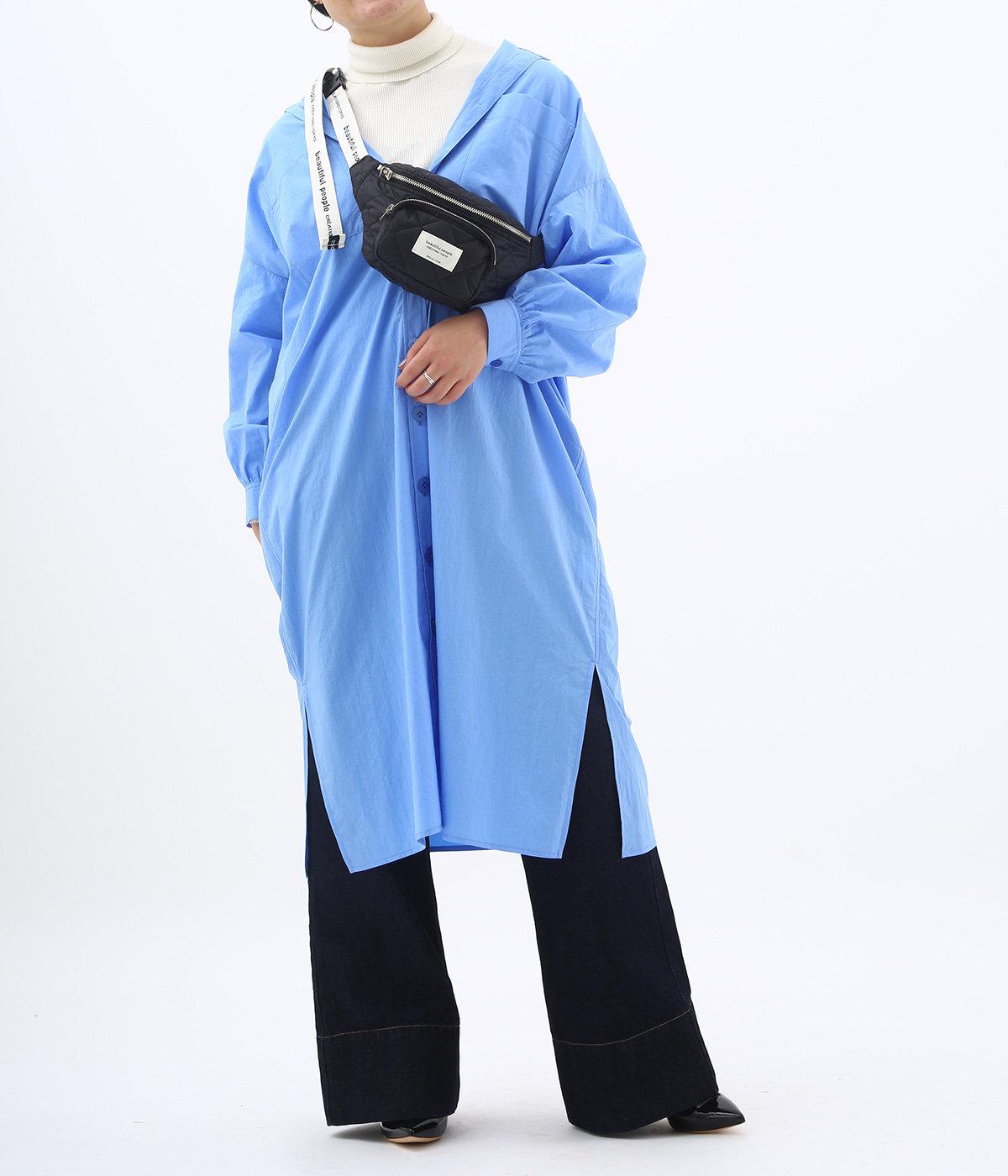 【レディース】別注 kilt nylon logo tape bam bag