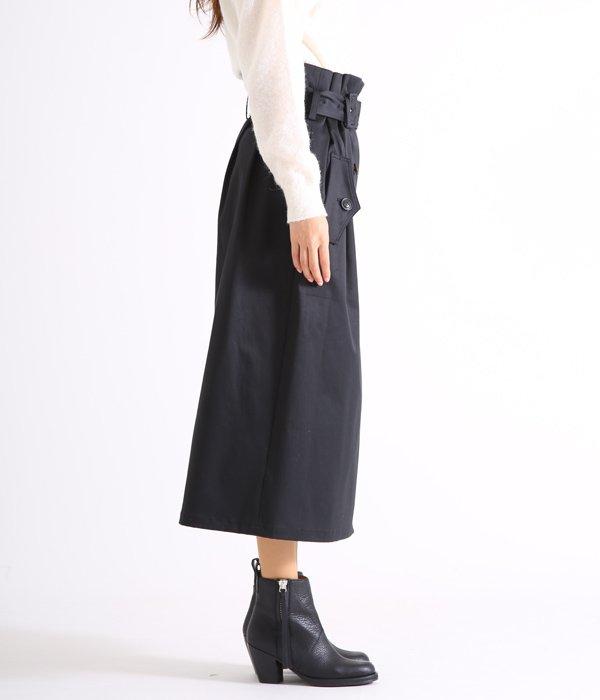 【レディース】トレンチスカート-Wクロスコットン-