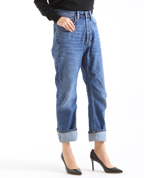 【レディース】Bla Konst / Log Mid Blue-Length 30-(Jeans Denim)
