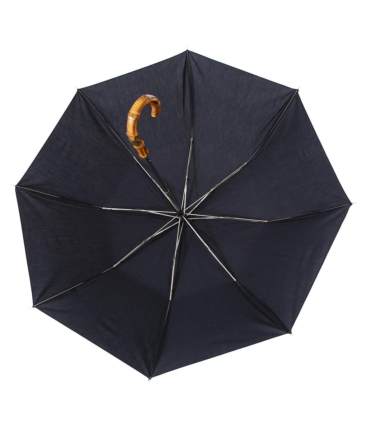 【レディース】FOLDING BAMBOO GLD-NAVY- / 折りたたみ傘